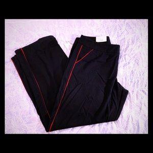 A New Day 14 R Pants/Slacks Dark Blue Red Stripe